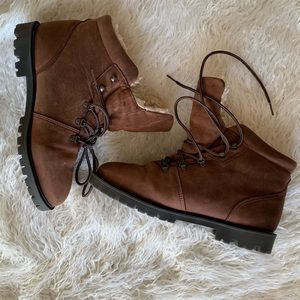 Cougar Women's Brown Sherpa Lined Winter Boots 8.5